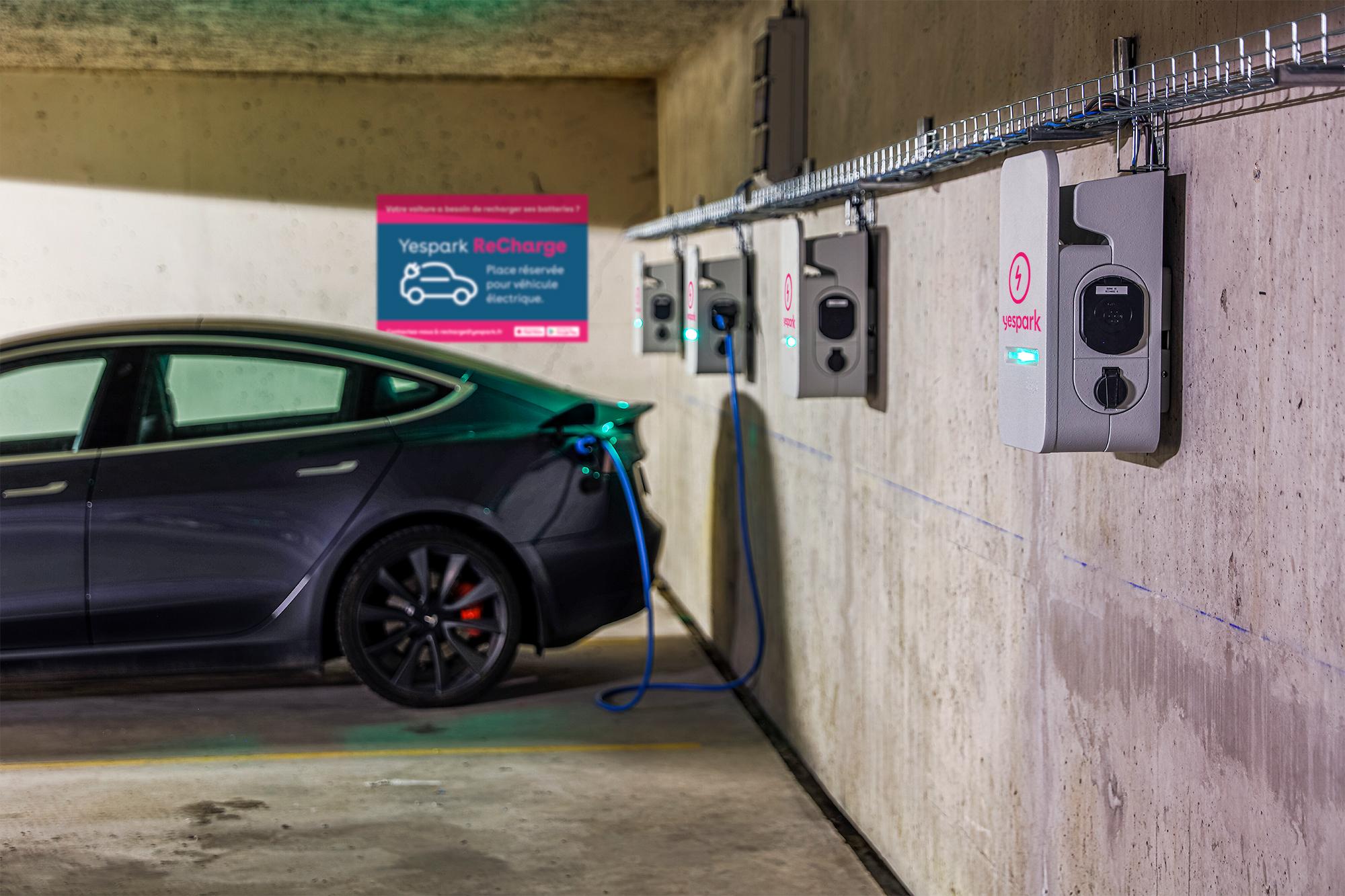 parking avec borne de recharge